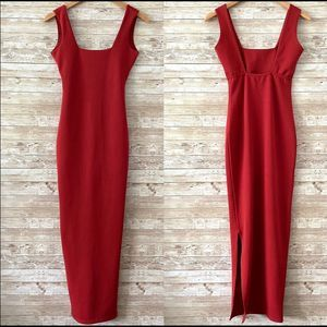 Nasty Gal Cocktail Maxi Red Dress Sz 2